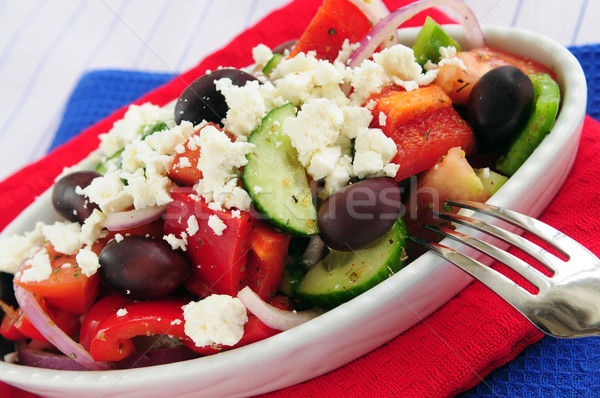 Greek salad Stock photo © elenaphoto