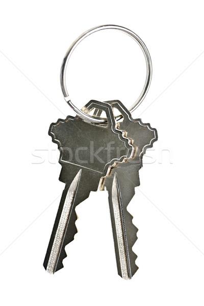 Izolált ház kulcsok kettő fehér otthon Stock fotó © elenaphoto