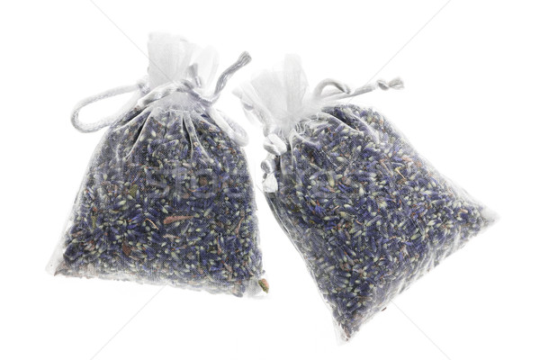 Sachet with dried lavender Stock photo © elenaphoto