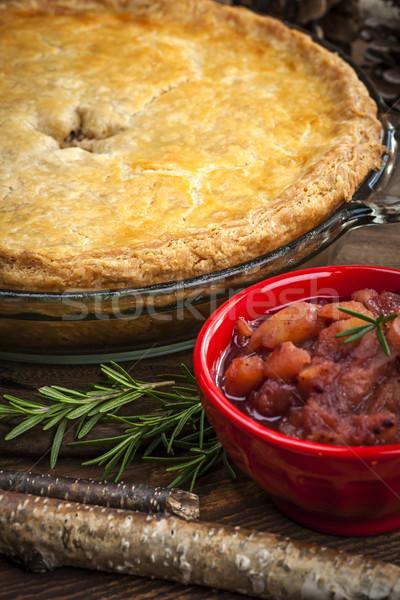 Tourtiere meat pie Stock photo © elenaphoto
