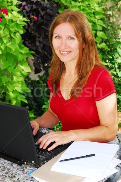 Working at home Stock photo © elenaphoto