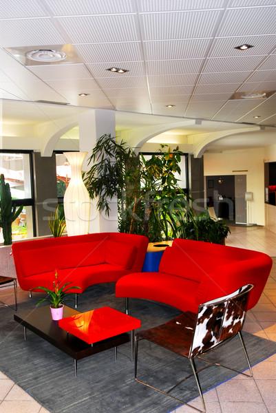 Hotel lobby interior Stock photo © elenaphoto