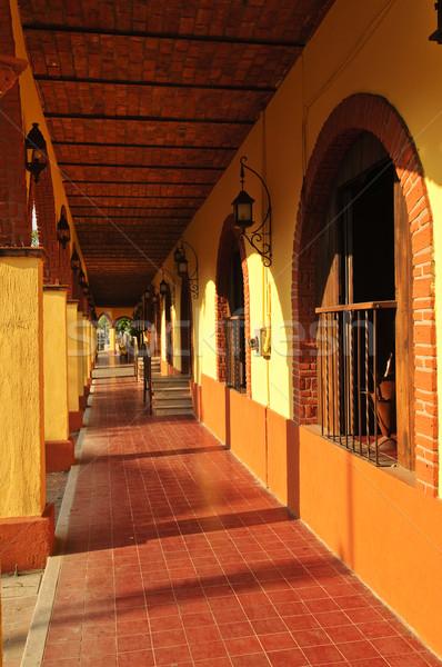 Sidewalk in Tlaquepaque district, Guadalajara, Mexico Stock photo © elenaphoto