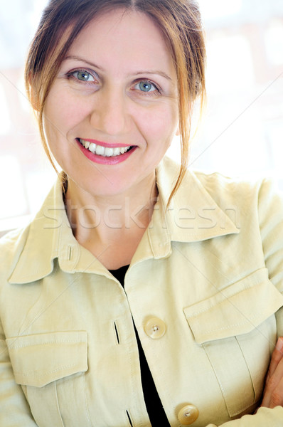 Portrait of a mature woman Stock photo © elenaphoto