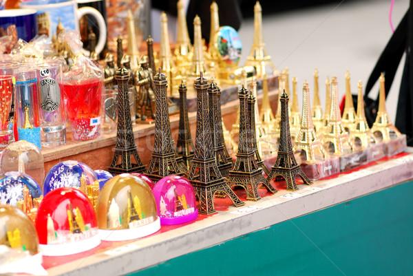 Eiffel tower souvenirs Stock photo © elenaphoto