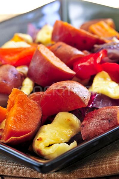 Roasted sweet potatoes Stock photo © elenaphoto