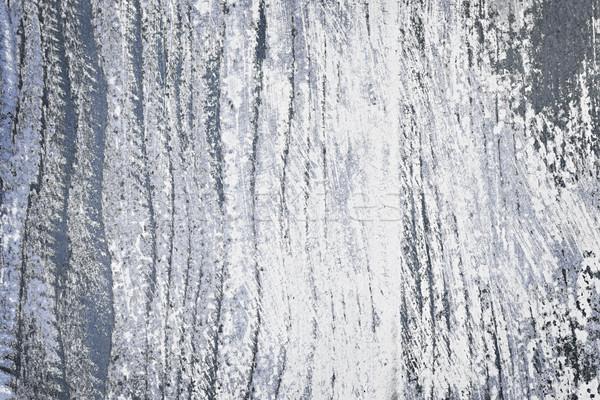 Stockfoto: Oude · geschilderd · hout · rustiek · Blauw