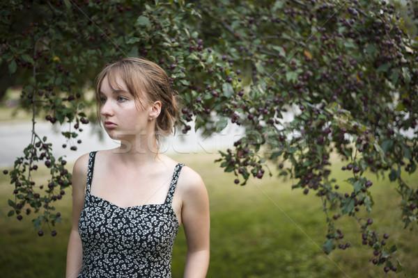 Young woman portrait Stock photo © elenaphoto