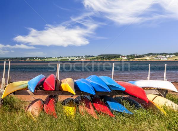 Costa colorido norte Canadá mar Foto stock © elenaphoto