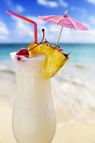 Pina colada cocktail Stock photo © elenaphoto