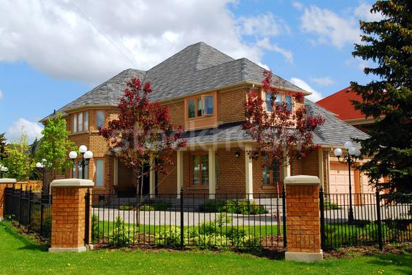 Mieszkaniowy domu duży luksusowe domu żelaza Zdjęcia stock © elenaphoto