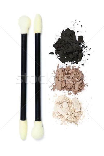 Eye shadow makeup with applicators Stock photo © elenaphoto