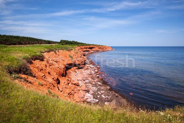Isola del principe edoardo rosso costa verde Foto d'archivio © elenaphoto