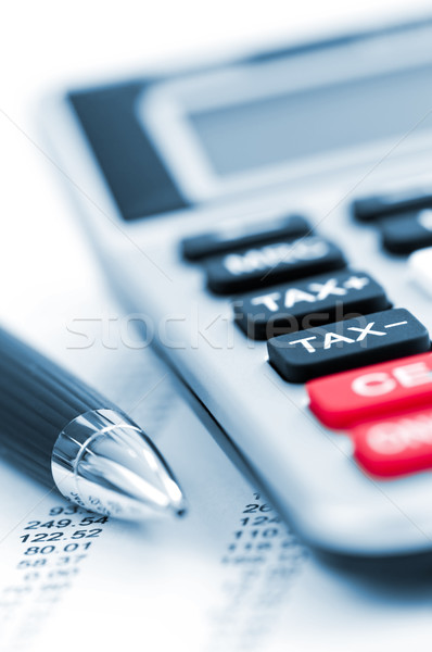Tax calculator and pen Stock photo © elenaphoto