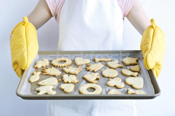 Freshly baked cookies Stock photo © elenaphoto