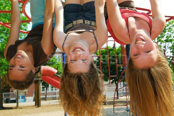 Girls in a park Stock photo © elenaphoto