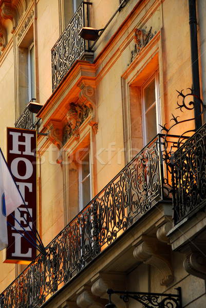 Paris hotel Stock photo © elenaphoto