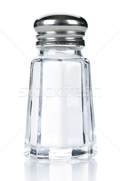 Tuz shaker cam yalıtılmış beyaz konteyner Stok fotoğraf © elenaphoto
