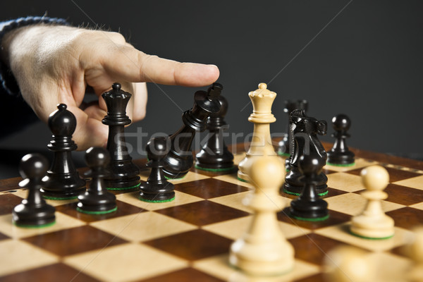 шах и мат шахматам пальца царя Сток-фото © elenaphoto