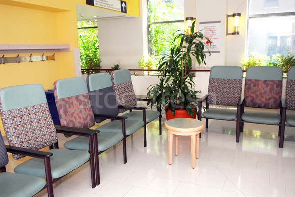 Hastane bekleme odası klinik boş sandalye doktor Stok fotoğraf © elenaphoto