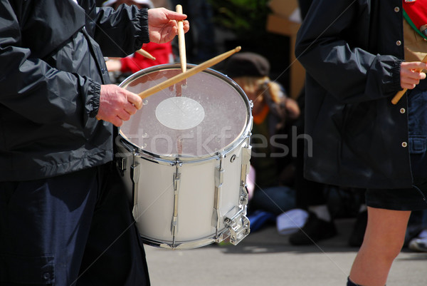 Marching band drums Stock photo © elenaphoto
