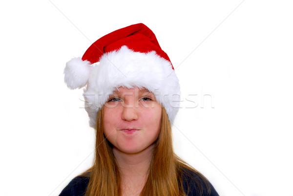 девушки портрет Hat изолированный Сток-фото © elenaphoto