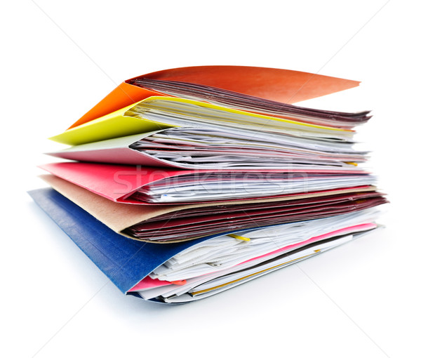 Stock fotó: Mappák · iratok · boglya · színes · akta · papírok