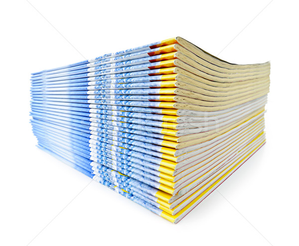 Stack of magazines Stock photo © elenaphoto