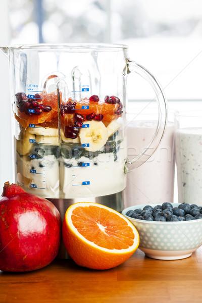 Foto stock: Fruto · iogurte · preparado · saudável