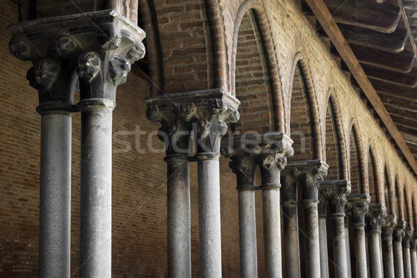 Cloister detail, Couvent des Jacobins Stock photo © elenaphoto