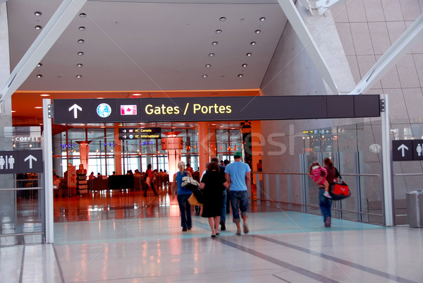 People gate airport Stock photo © elenaphoto