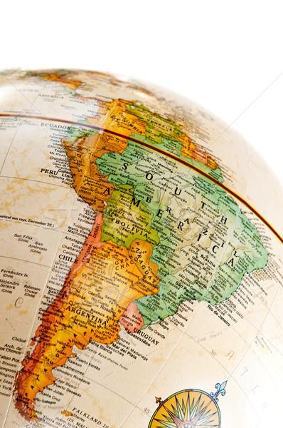 Wereldbol kaart wereld aarde oceaan Stockfoto © elenaphoto