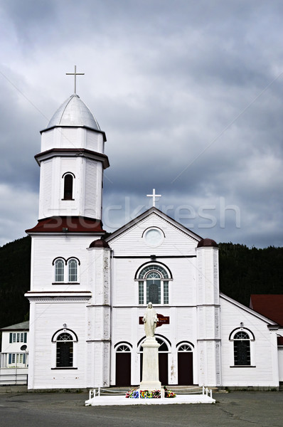 Sacred Heart Church in Placentia Stock photo © elenaphoto