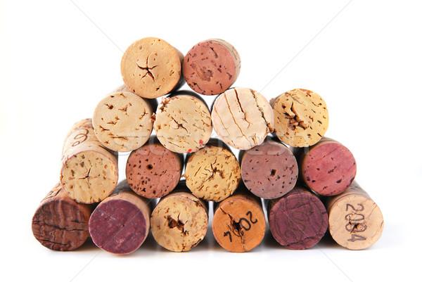 Stok fotoğraf: şarap · arka · plan · alkol · mantar