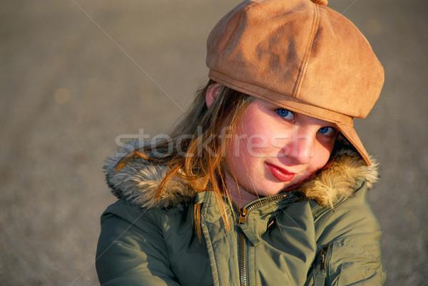 Girl winter hat Stock photo © elenaphoto