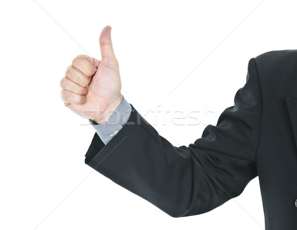 Man giving thumbs up gesture Stock photo © elenaphoto