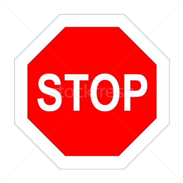 Stop road sign Stock photo © Elenarts