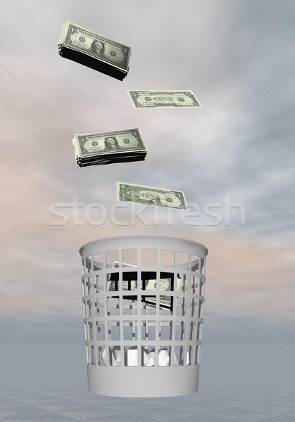 Wasted money - 3D render Stock photo © Elenarts