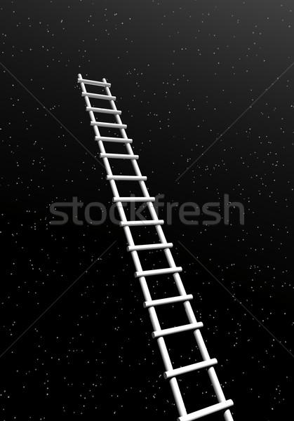 Escalera éxito 3d blanco largo líder Foto stock © Elenarts