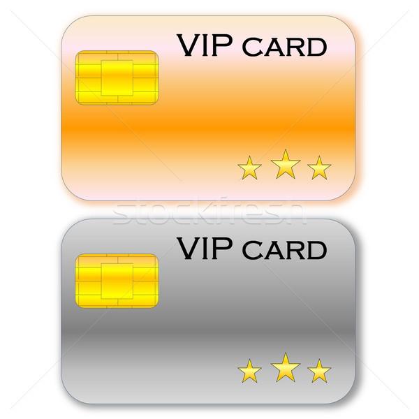 Vip tarjetas dorado gris tarjeta chip Foto stock © Elenarts
