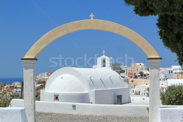 Arch upon a chapel in Oia, Santorini, Greece  Stock photo © Elenarts