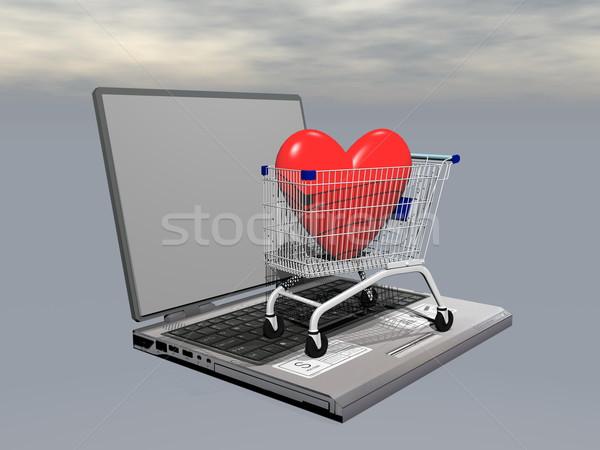 E-shopping for love - 3D render Stock photo © Elenarts