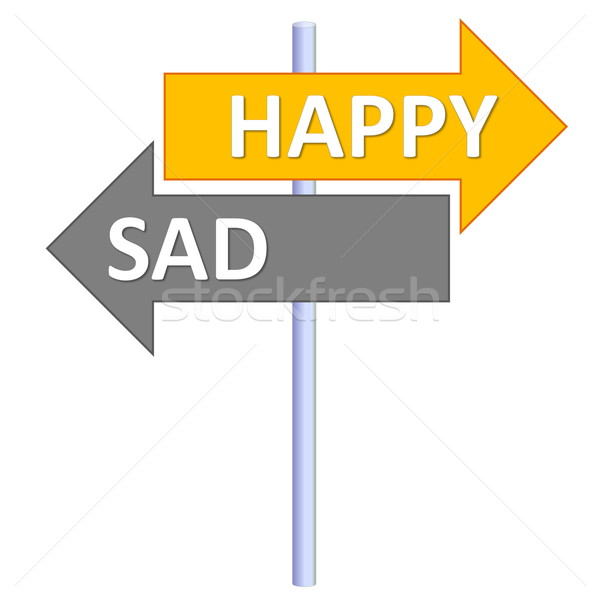 Happy or sad Stock photo © Elenarts