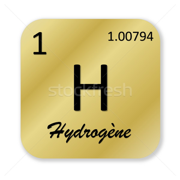 Hydrogen element, french hydrogene Stock photo © Elenarts
