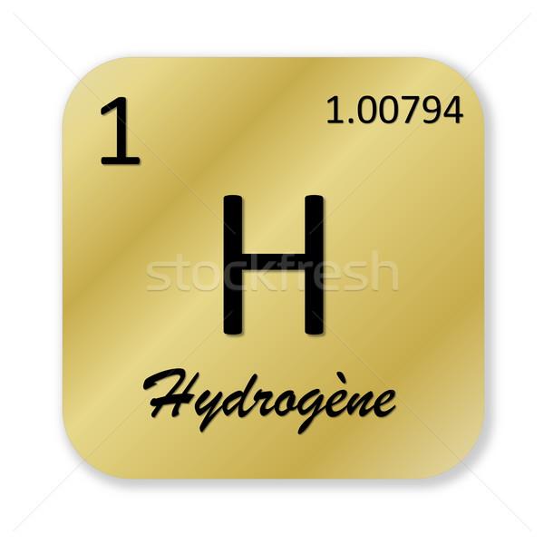 Hidrojen fransız siyah altın kare Stok fotoğraf © Elenarts
