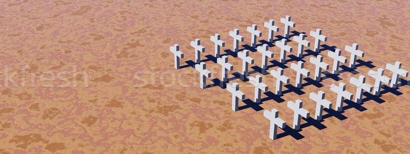 White crosses Stock photo © Elenarts