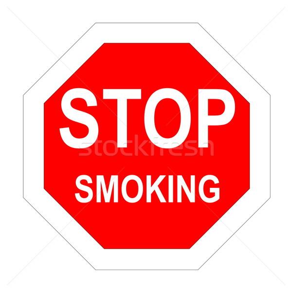 Durdurmak sigara içme kelime içinde beyaz Stok fotoğraf © Elenarts