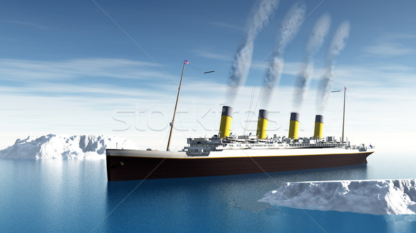 Titanic ship - 3D render Stock photo © Elenarts