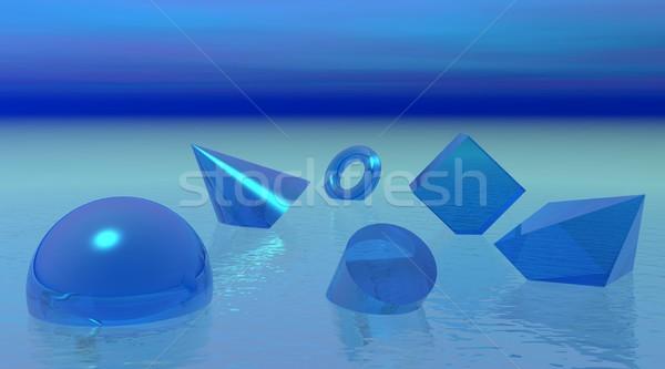 Lebeg formák sok különböző kék óceán Stock fotó © Elenarts
