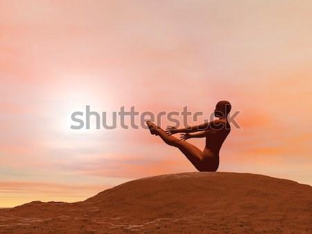 огня лет создают 3d визуализации Сток-фото © Elenarts